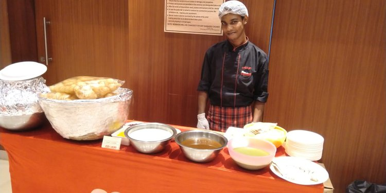 Pani Puri and Chaats Live counter