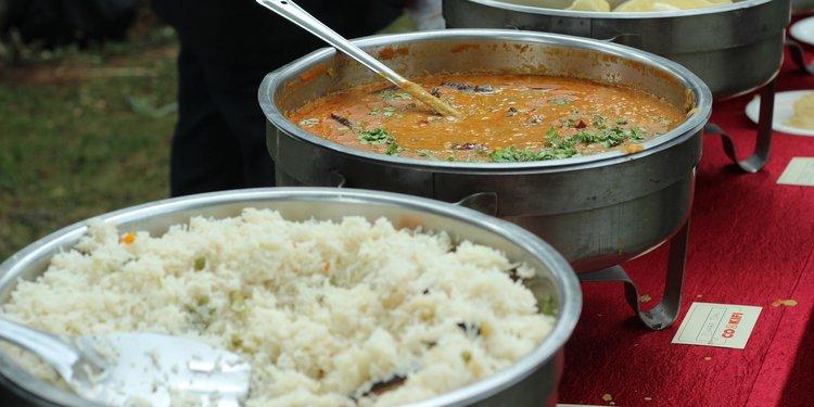 Vegetable Pulao and Matar Paneer