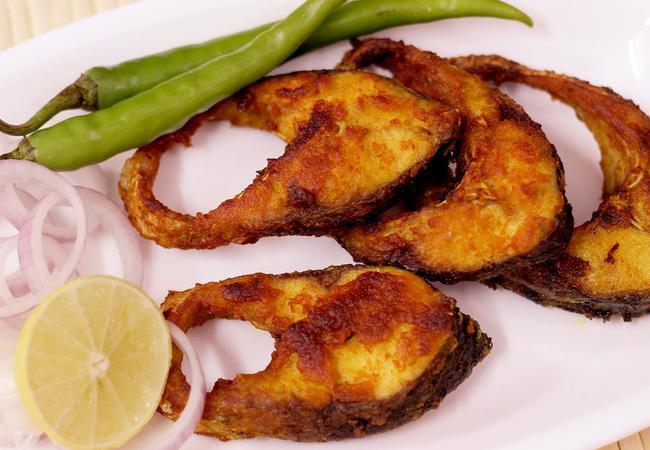 Fried seer fish for Eastside fish fry menu