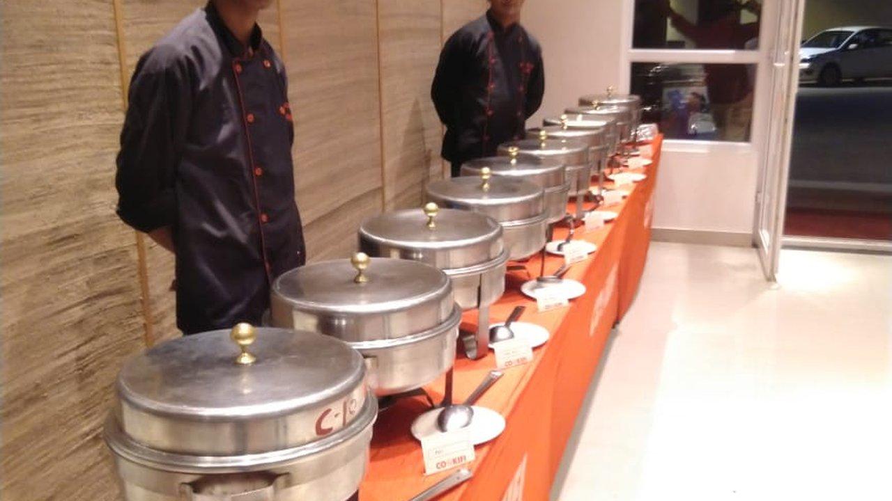 Image result for vegetarian buffet setup